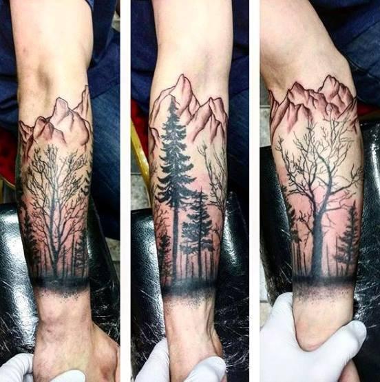 Hình xăm rừng cây núi cho anh Trung Chồng chị Hằng bạn nào xăm liên hệ 0907775670