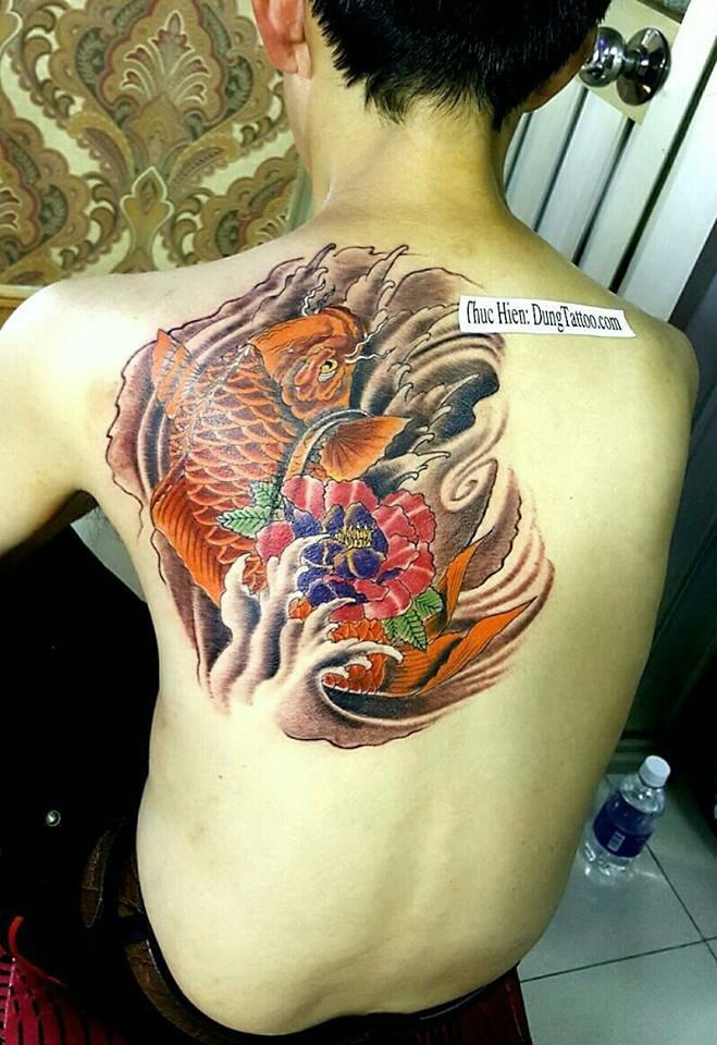 hình xăm cá chép may mắn cho artist Kiệt xăm rồng cánh tay trắng đen đơn giản nhìn có hồn bạn nào thích liên hệ 0907775670