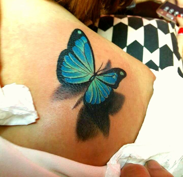 Hình xăm bướm 3d nữ tính -thực hiện tại dũng 0907775670