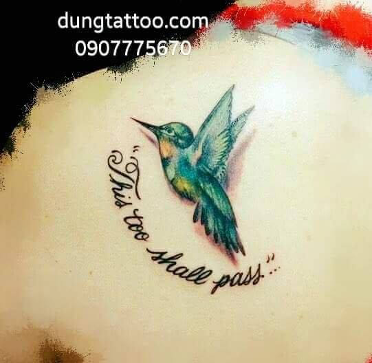Hình xăm chữ và chim én yến -thực hiện tại dũng 0907775670
