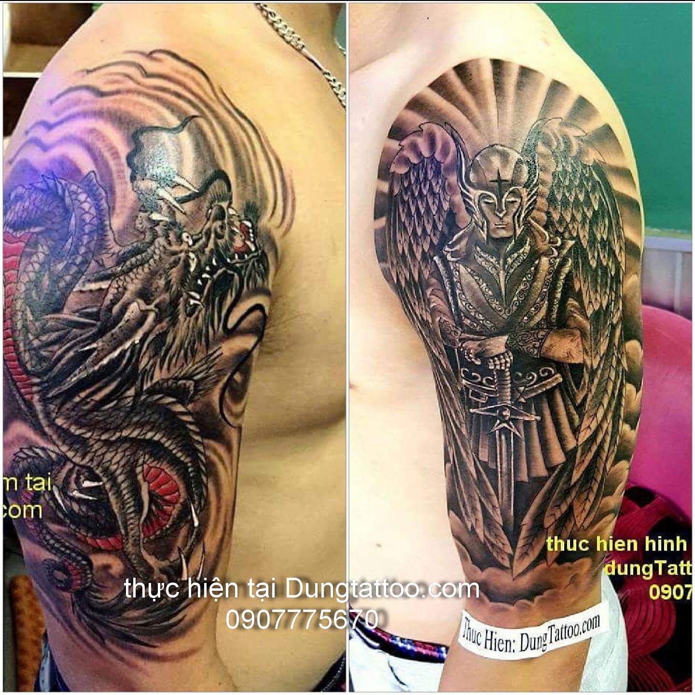 hinh xam canh tay dep thuc thien tai dung tattoo
