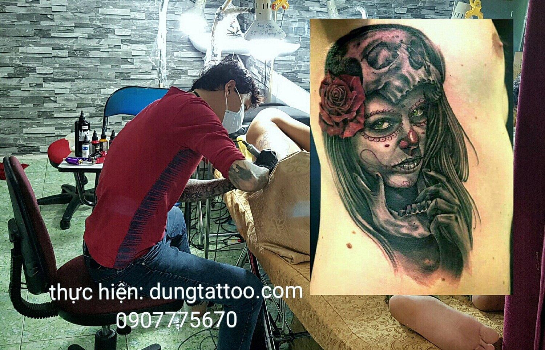 Hinh xam thuc hien tren bung hong eo tai dung tatoo 0907775670