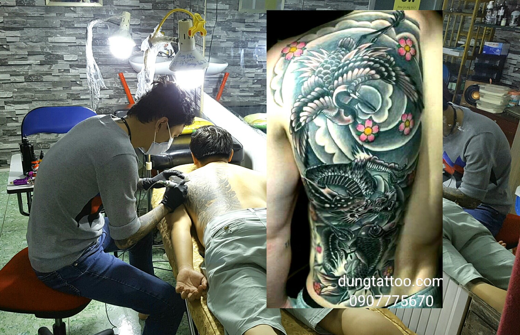 Hinh xam dep nua lung dung tattoo thuc hien dungtattoo.com