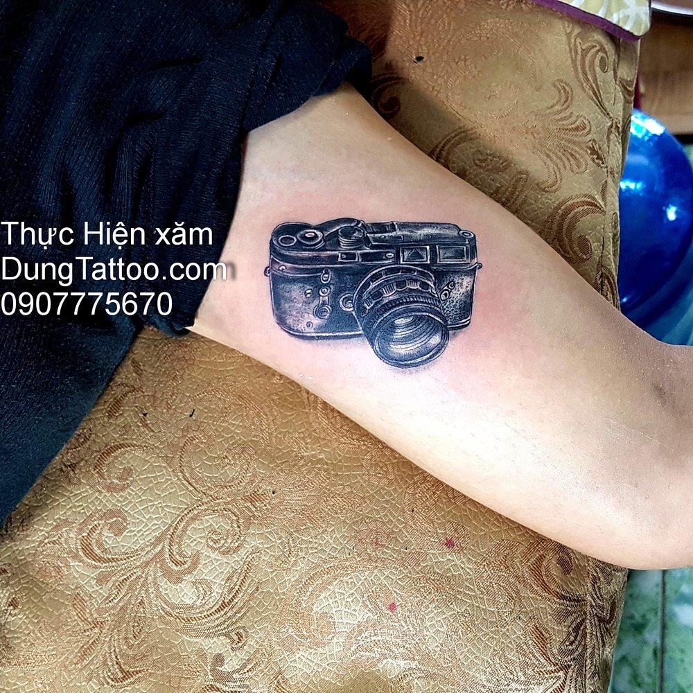 hinh xam may chup hinh photograph tattoo dung thuc hien 0907775670