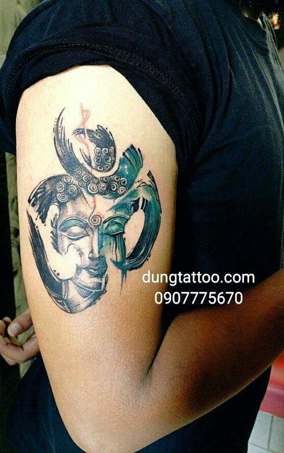 hinh xam phat chu om ma ni thuc hien dung tattoo 0907775670