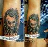 hinh xam joker guong mat 3d mieng cuoi dung tattoo thuc hien