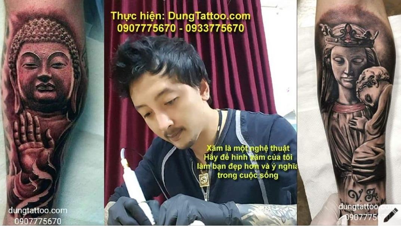 xam nghe thuat dung tatoo hinh xam dep 3d saigon hcm